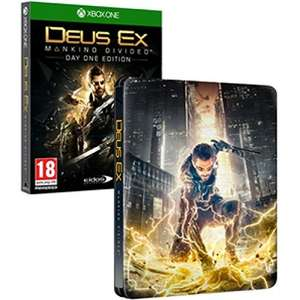 Deus Ex Mankind Divided Day One Edition Steelbook Xbox One Game £9.99 Prime / £11.98 non-Prime @ Amazon
