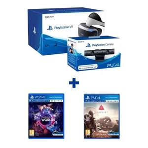 PlayStation VR Headset + PS V2 Camera + VR Worlds + Farpoint Bundle £315 @ 365Games with code GAME10