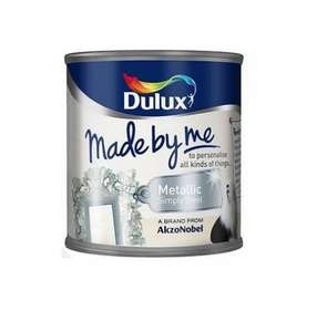 Dulux Made By Me Metallic Finish - Simply Steel - 125ML £3.99 @ TESCO