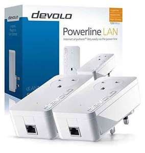 devolo dLAN 1200+ Powerline Starter Kit (1200 Mbps, 2 x PLC Homeplug Adapter, 1 x Gigabit LAN Port, Pass Through, Internet Signal Booster, Ethernet Access Over Power Line, Range+ Technology) - White £74.99 @ Amazon