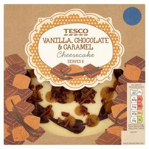 Vanilla. Chocolate And Caramel Cheesecake 540G - £1.75 @ Tesco - From 14.06.2017