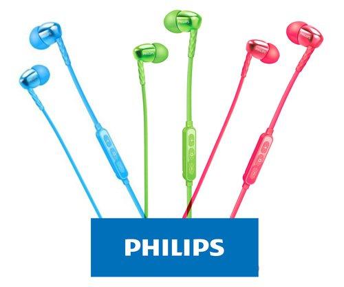 PHILIPS Wireless Bluetooth NFC Headphones - Purple, Green, Pink £10.97 @ Currys (Free C&C)