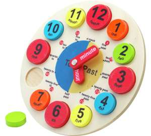 Chad Valley PlaySmart Wooden Clock Now £4.99 at Argos