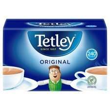 Tetley 240 Teabags 750G less than half price was £5.80 now £2.50 from tomorrow @ tesco.