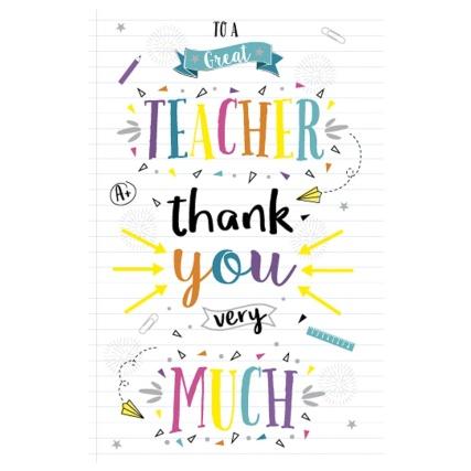 Thank You Teacher Cards 59p each in-store @ B&M Bargains