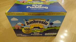 4 x 400g Ambrosia Rice Pudding for £1.29 @ B&M