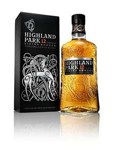 Highland Park 12 Year Old Orkney Malt Whisky Bottle, 70 cl only £22 @ Amazon