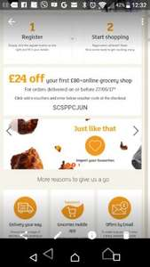 £24 off £80 spend. Choose £1 delivery @ Sainsburys