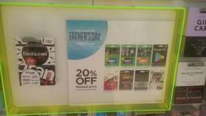 20% off selected gift cards @ Asda