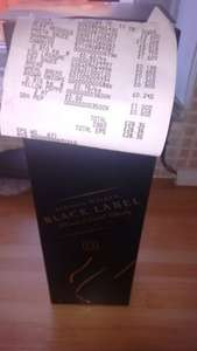 Jonnie Walker black label reduced to clear £15 Asda Weymouth