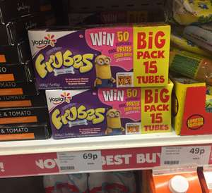 Frubes 15 pack 69p @ Heron strawberry peach and raspberry