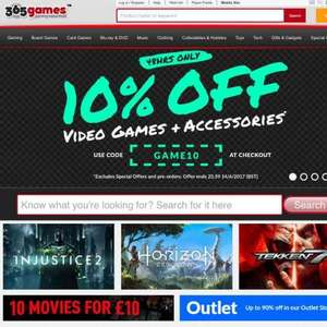 10% off all Games and accessories at 365 Games