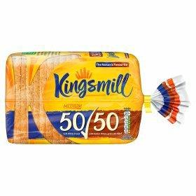 Kingsmill 50/50 medium loaf 800g, 50p at ASDA