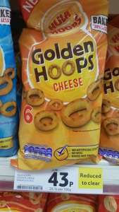 Golden Hoops Hula Hoops 6 multipack - cheese flavour - 43p  instore @ Tesco (Barrow-in-Furness)