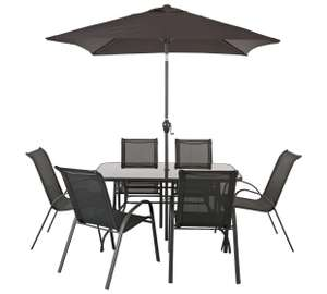 6 Seater Patio Furniture Set including Parasol £149.99 @ Argos