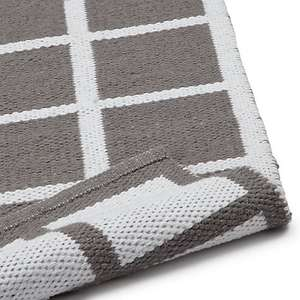 Grey House by John Lewis Grid Rug L170 x W110cm - £30 (was £60) free C&C from John Lewis
