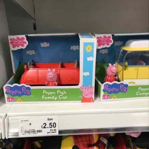 Peppa Pig Vehicles £2.50 Asda instore