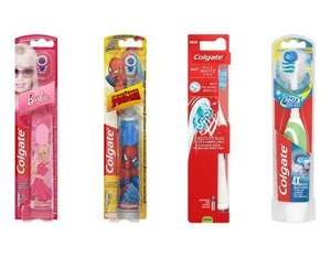 Colgate Barbie or Spiderman or 360 Max White Sonic Powered Toothbrushes £2.25 each @ Waitrose