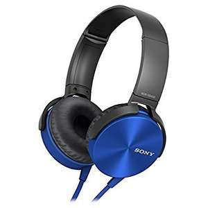 Sony MDR-XB450 Xtra Bass Overhead Headphones (Blue) - was £45 now £11.97 (Prime) / £15.96 (Non Prime) @ Amazon Prime