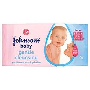 Johnson's baby wipes 6*56 box reduced to £1.78 instore @ Tescos