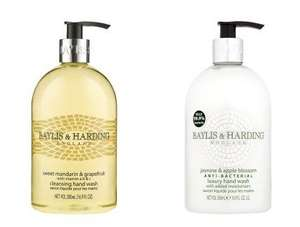 Baylis & Harding Mandarin & Grapefruit Hand Wash or Anti-Bacterial Wash 500ml - 93p each with PYO @ Waitrose