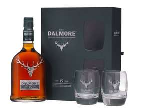 Dalmore Malt Scotch Whisky 15 Year Old Glass Gift Pack, 70 cl  £42.15  Amazon - lightning deal