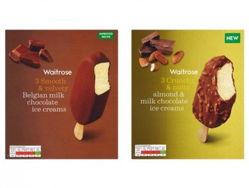 Belgian Milk Choc (3x100ml) or Almond & Milk Chocolate (3x100ml) Ice Creams £2.10 - 70p per box with PYO @ Waitrose