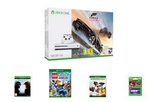 Xbox One S 500GB Forza Horizon 3 + Halo 5 Guardians + LEGO City Undercover + Overwatch: Origins Edition + NOW TV Movies 2 Month Sky Cinema Pass £219.99 @ Game