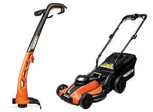 Worx 1400w Lawnmower and Trimmer 250w Set £49.99 @ Wickes (Free C+C)