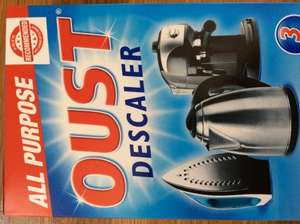 Oust descaler all purpose for kettles, irons and coffee machines 38p @ Tesco instore