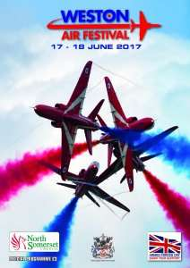 Weston Air festival and armed forces weekend,(includes the red arrows) sat 17th and Sun 18th June