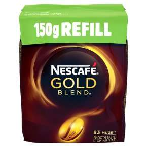 Nescafe Gold Refill 150g on Offer for £3, but £2.40 with Pick Your Own at Waitrose