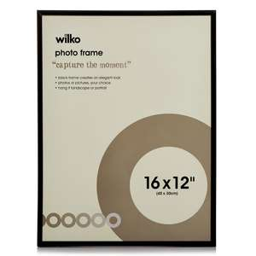 Wilko Easy Photo Frame Black 16x12 inches £3.50 at Wilkos (Free c&c)