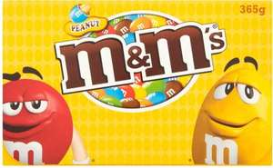 M&M's Peanut Box 365g  Milk chocolate (48%) covered peanuts (24%) in a suger shell. 365g Box ONLY £2.00 @ Poundland