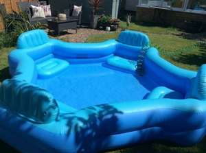 Inflatable pool with seating, £20 in Asda, not sure if national