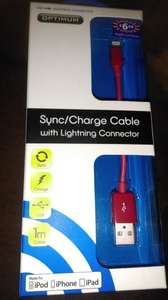 Optimum Lightning iPhone 5 1M USB data sync charging cable at £1 @ B&M Bargains