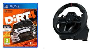 Copy of Dirt 4 Steelbook Edition (PS4) with purchase of Hori RWA Racing Wheel £91.93 Delivered @ Amazon.fr