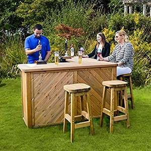 Anchor Fast Garden Bar and Stool Set £599.98 Costco