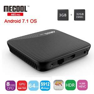 Mecool M8S Pro. Octa-Core,  Android 7.1, 3GB DDR4 RAM 32GB ROM, Android TV Box £50.43 Banggood