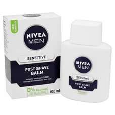 Nivea For Men Post Shave Balm Original + Sensitive 100ml £2.45 C+C(works out at £2.35 if you buy via TopCashaBack) reduced from £4.95 + other Mens Nivea products at Half price or less @ Wilko