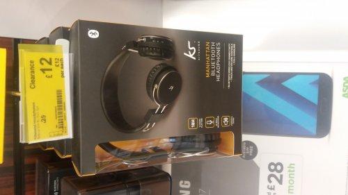 Kitsound Manhattan Bluetooth headphones - £12 instore @ Asda