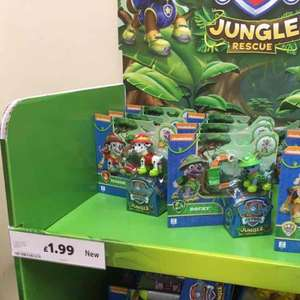 Paw Patrol Jungle Rescue Pups - £1.99 each in Tesco