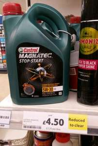 Castrol Magnatec Stop-Start 5-30W 2l - Tesco was £18 now £4.50