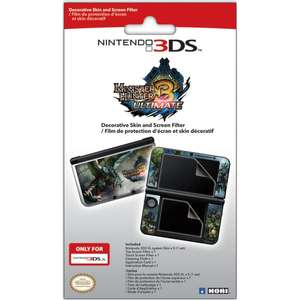 Monster Hunter 3 Ultimate Screen Protective Filter & Skin Set 3DS XL - save 50% for £4.99 (£1.99 delivery) - £5.98