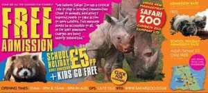 free admission to South lakes safari zoo before the kids school holidays