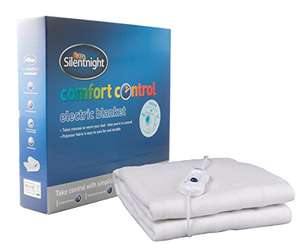 Silentnight Comfort Control Electric Blanket Double - Was £59.99 Now £20.80