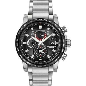 Citizen Watch World Time A.T Men's Solar Powered Watch with Black Dial Analogue Display and Silver Stainless Steel Bracelet £234 **Now £210.60** @ Amazon