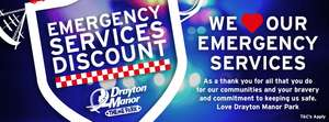 Emergency Service staff go free to Drayton Manor