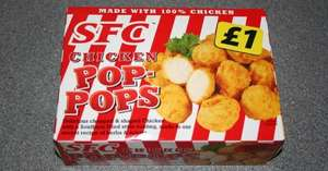 SFC CHICKEN POPPETS £1 HALAL AND NON HALAL @ Iceland