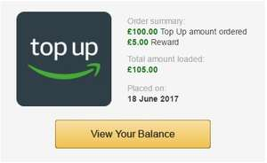 Amazon.co.uk: Top Up £100 and get £5 extra Free! (Selected Eligible Accounts)